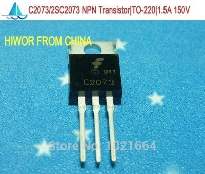 2SC2073 N 150V 1.5A 25W TV-VA, NF/S-L, 150V, 1,5A, 25W, 4MHz NTE375