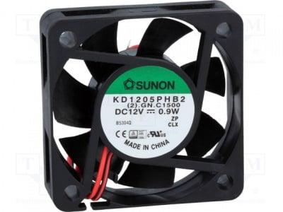 Вентилатор KD1205PHB2 Вентилатор: DC; аксиален; 12VDC; 50x50x15mm; 22,08m3/h; 30dBA