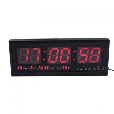 LED електронен часовник TL-4819, с температура и календар