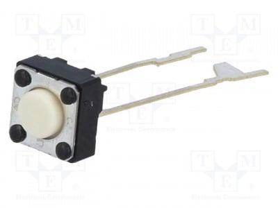 Бутон тактов B3F-6000 Микропревключвател TACT SPST-NO позиции 2 0,05A/24VDC THT