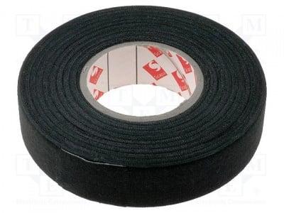 Текстилна лента SCAPA-003-19 Лента: текстилна W: 19mm L: 25m Thk 0,25mm каучуково черен