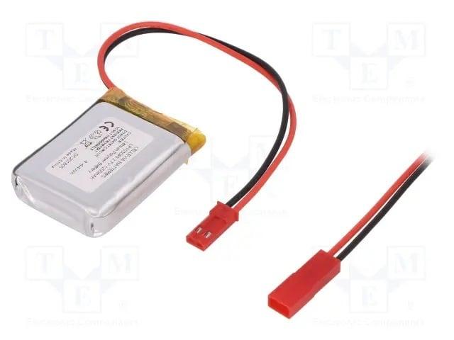 Акумулаторна Батерия ACCU-LP103040/CL Акум Li-Po 3,7V 1200mAh проводници 10x30x40mm