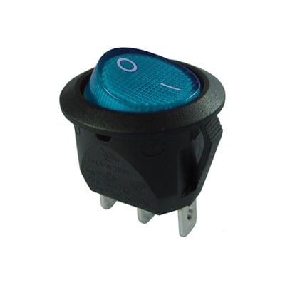 Ключ кобиличен светещ MRS-R20-23L-BLN Ф20 мм, 3P ON-OFF, 6A/250VAC, НЕОН СИН